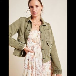 Anthropologie Olive Utility Military Jacket Anthro